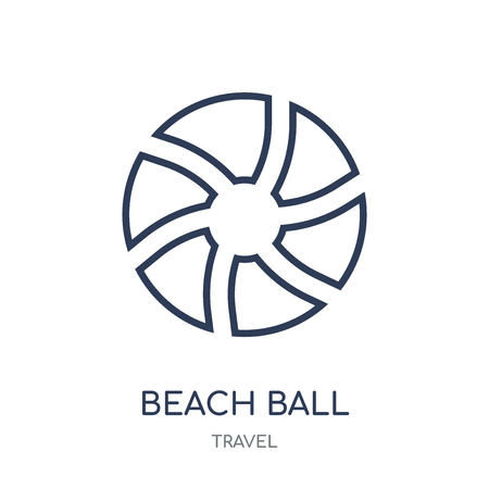 Beach ball icon. Beach ball linear symbol design from Travel collection. Simple outline element vector illustration on white background. Illustration