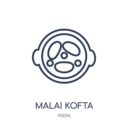 Malai kofta icon. Malai kofta linear symbol design from India collection. Simple outline element vector illustration on white background.