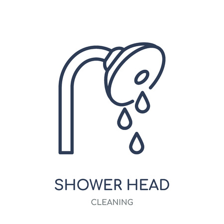 Shower head icon. Shower head linear symbol design from Cleaning collection. Simple outline element vector illustration on white background.
