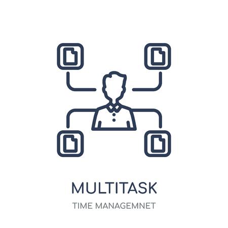 Multitask icon. Multitask linear symbol design from Time managemnet collection. Illustration
