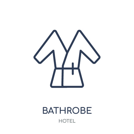 Bathrobe icon. Bathrobe linear symbol design from Hotel collection. Simple outline element vector illustration on white background. Фото со стока - 111820814