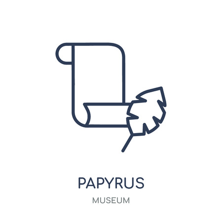 Papyrus icon. Papyrus linear symbol design from Museum collection. Simple outline element vector illustration on white background.
