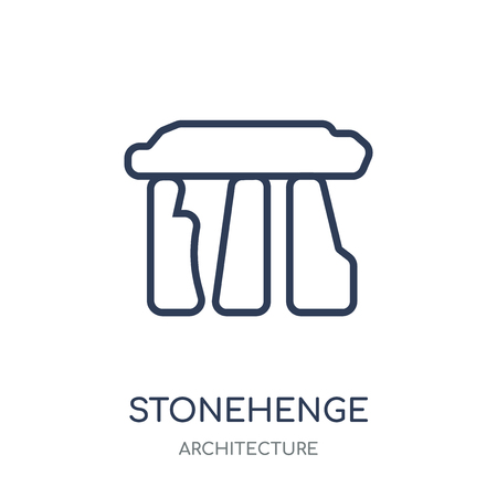 Stonehenge icon. Stonehenge linear symbol design from Architecture collection. Simple outline element vector illustration on white background.