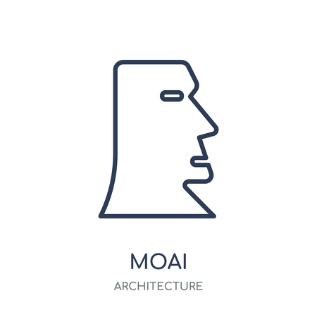 Moai icon. Moai linear symbol design from Architecture collection. Simple outline element vector illustration on white background.