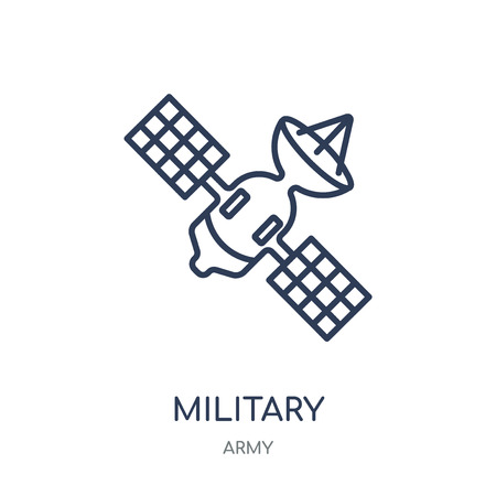 Military Satellites icon. Military Satellites linear symbol design from Army collection.