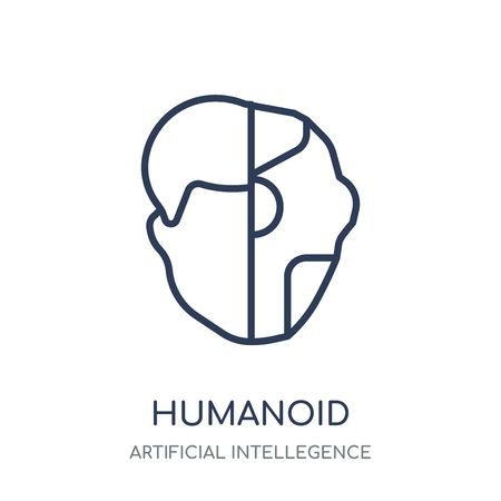 Humanoid icon. Humanoid linear symbol design from Artificial Intellegence collection.