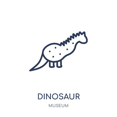 Dinosaur icon. Dinosaur linear symbol design from Museum collection. Simple outline element vector illustration on white background.