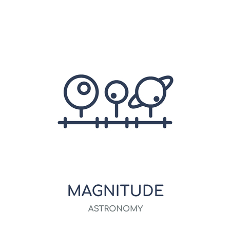 Magnitude icon. Magnitude linear symbol design from Astronomy collection.