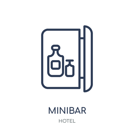 Minibar icon. Minibar linear symbol design from Hotel collection. Simple outline element vector illustration on white background.