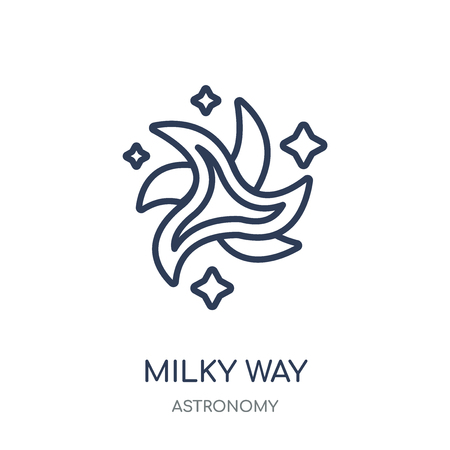 Milky way icon. Milky way linear symbol design from Astronomy collection.