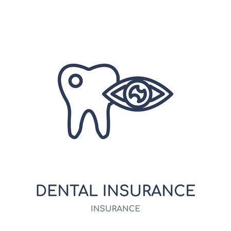 dental insurance icon. dental insurance linear symbol design from Insurance collection. Illustration
