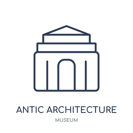 antic Architecture icon. antic Architecture linear symbol design from Museum collection. Simple outline element vector illustration on white background.