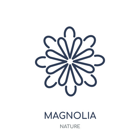 Magnolia icon. Magnolia linear symbol design from Nature collection. Simple outline element vector illustration on white background.