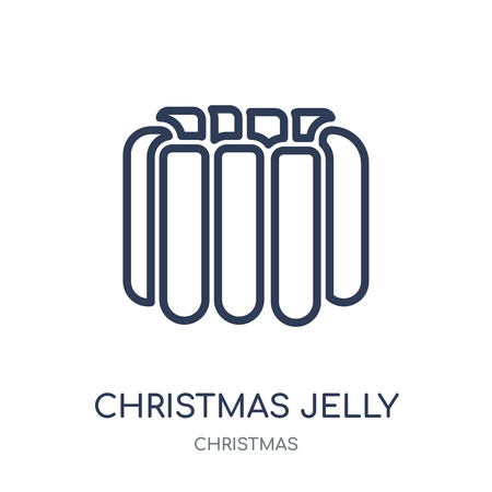 christmas jelly icon. christmas jelly linear symbol design from Christmas collection. Simple outline element vector illustration on white background.