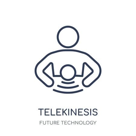 Telekinesis icon. Telekinesis linear symbol design from Future technology collection.