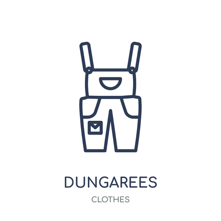 Dungarees icon. Dungarees linear symbol design from Clothes collection. Simple outline element vector illustration on white background.