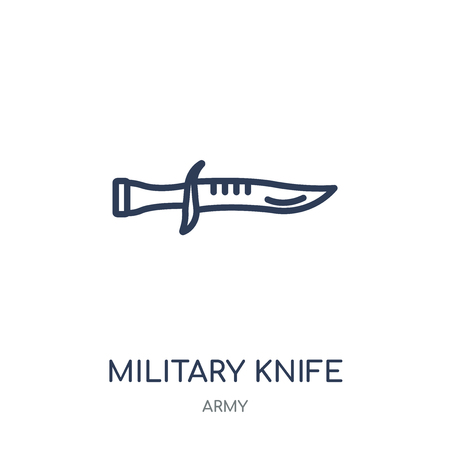 Military Knife icon. Military Knife linear symbol design from Army collection.