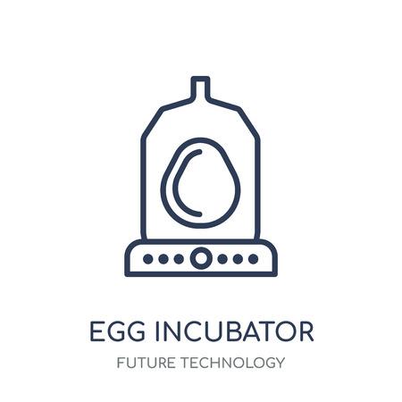 Egg incubator icon. Egg incubator linear symbol design from Future technology collection.
