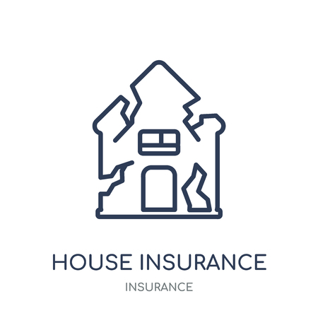 House insurance for storms icon. House insurance for storms linear symbol design from Insurance collection. Illustration