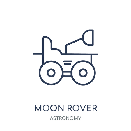 Moon rover icon. Moon rover linear symbol design from Astronomy collection.