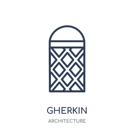 Gherkin icon. Gherkin linear symbol design from Architecture collection. Simple outline element vector illustration on white background. 向量圖像