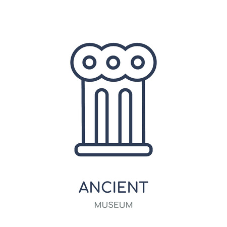 Ancient icon. Ancient linear symbol design from Museum collection. Simple outline element vector illustration on white background.