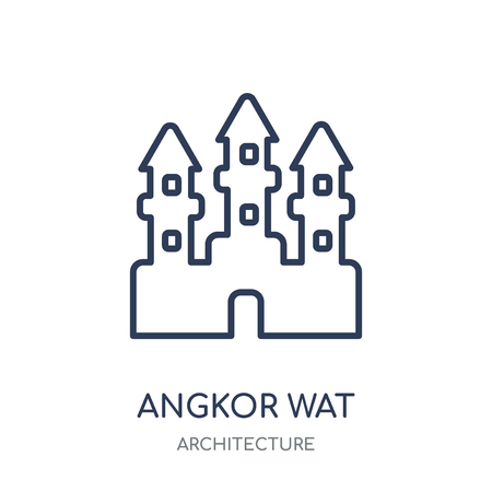 Angkor wat icon. Angkor wat linear symbol design from Architecture collection. Simple outline element vector illustration on white background.