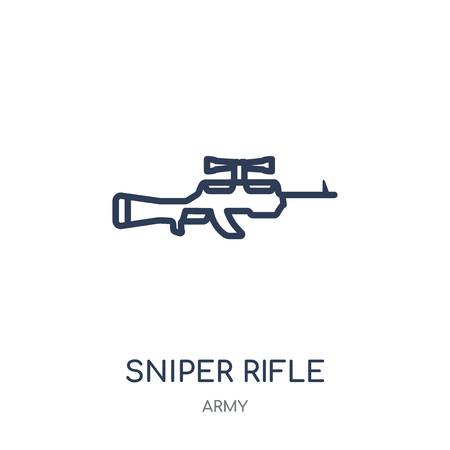 Sniper Rifle icon. Sniper Rifle linear symbol design from Army collection.