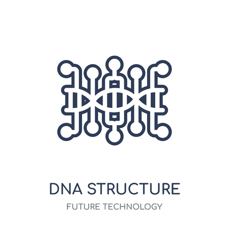 Dna structure icon. Dna structure linear symbol design from Future technology collection.