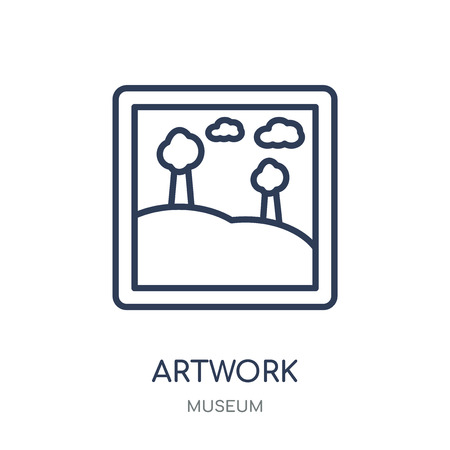 Artwork icon. Artwork linear symbol design from Museum collection. Simple outline element vector illustration on white background.