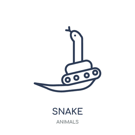 Snake icon. Snake linear symbol design from Animals collection. Simple outline element vector illustration on white background.