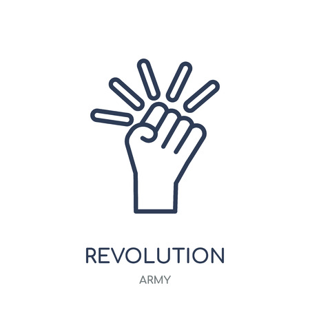 Revolution icon. Revolution linear symbol design from Army collection.