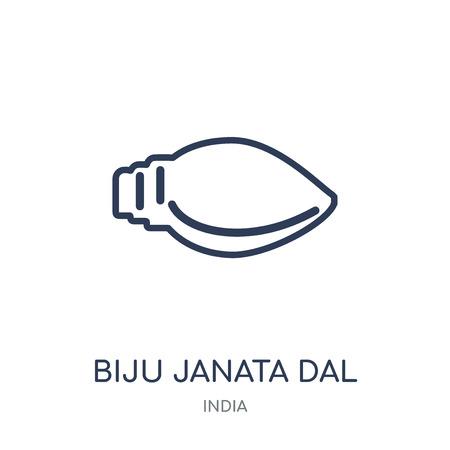 biju janata dal icon. biju janata dal linear symbol design from India collection. Simple outline element vector illustration on white background.