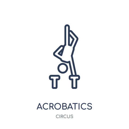 Acrobatics icon. Acrobatics linear symbol design from Circus collection. Simple outline element vector illustration on white background.  イラスト・ベクター素材