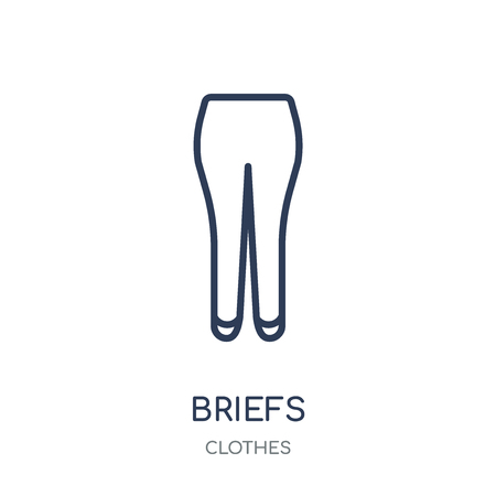 briefs icon. briefs linear symbol design from Clothes collection. Simple outline element vector illustration on white background.