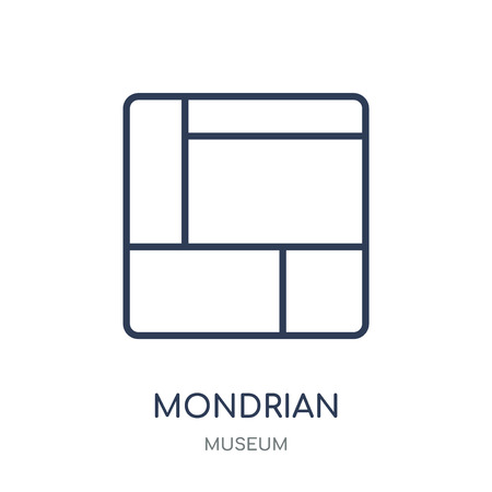 Mondrian icon. Mondrian linear symbol design from Museum collection. Simple outline element vector illustration on white background.