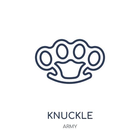 Knöchel-Symbol. Knöchel lineares Symboldesign aus der Armeesammlung.