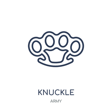 Knuckle icon. Knuckle linear symbol design from Army collection.