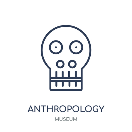 Anthropology icon. Anthropology linear symbol design from Museum collection. Simple outline element vector illustration on white background. Çizim