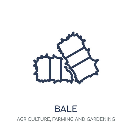 Bale icon. Bale linear symbol design from Agriculture, Farming and Gardening collection. Simple outline element vector illustration on white background.