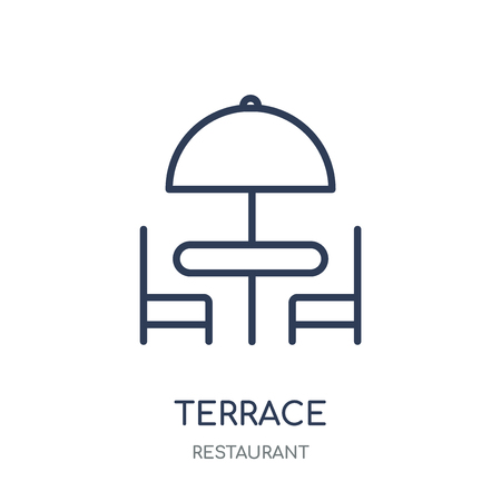 Terrace icon. Terrace linear symbol design from Restaurant collection. Simple outline element vector illustration on white background.