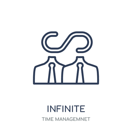 Infinite icon. Infinite linear symbol design from Time managemnet collection. 向量圖像