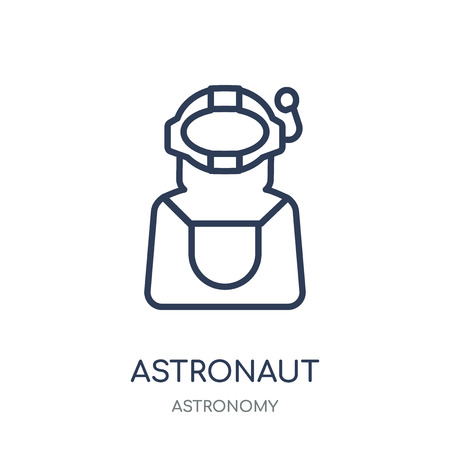 Astronaut icon. Astronaut linear symbol design from Astronomy collection.