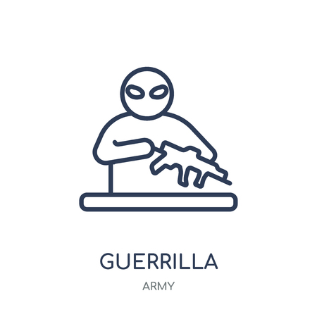 guerrilla icon. guerrilla linear symbol design from Army collection.