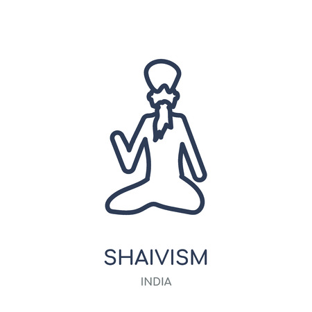 shaivism icon. shaivism linear symbol design from India collection. Simple outline element vector illustration on white background.