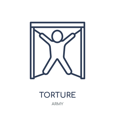 torture icon. torture linear symbol design from Army collection.