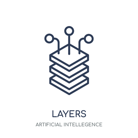 Layers icon. Layers linear symbol design from Artificial Intellegence collection.