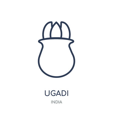 ugadi icon. ugadi linear symbol design from India collection. Simple outline element vector illustration on white background.