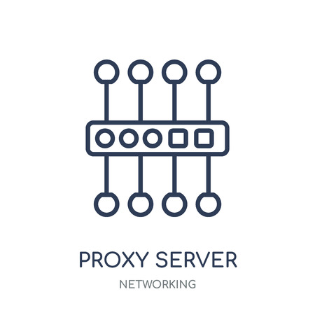 proxy server icon. proxy server linear symbol design from Networking collection. Simple outline element vector illustration on white background. 向量圖像