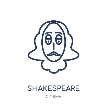 Shakespeare icon. Shakespeare linear symbol design from Cinema collection. Simple outline element vector illustration on white background. Illustration